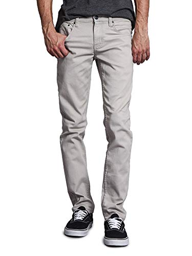 Victorious Men's Skinny Fit Color Stretch Jeans DL937 - Gray - 28/30