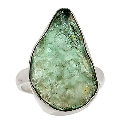 Xtremegems Ancient Roman Glass 925 Sterling Silver Ring Jewelry Size 7 28631R