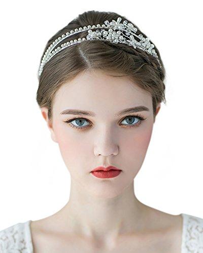 SWEETV Double Bridal Headband Accessories