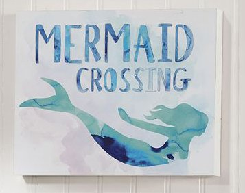 Mermaid Crossing, Beach Time Novelty Sign, 2 Different Designs (Mermaid)