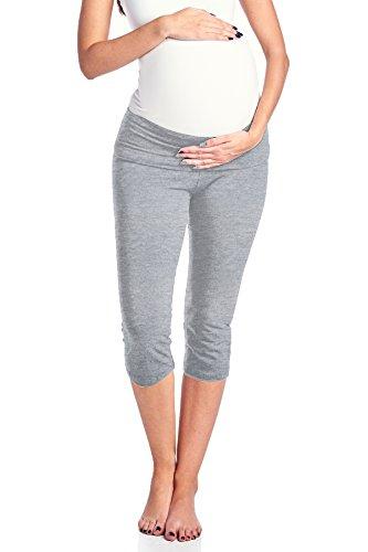 Beachcoco Women's Maternity Fold Over Comfortable Lounge Pants (M, Heather Grey (Liz Lange Maternity)