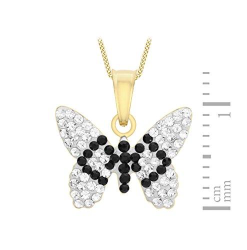 Carissima Gold - Collier - Femme - Or Jaune 375/1000 (9 cts) 0.03 gr - Cristal - 46 cm