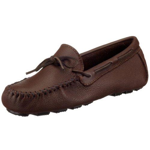 Minnetonka Driving Shoes - Minnetonka Men's Moosehide Driving Moc, Chocolate Moose, 9 M US