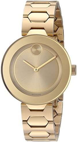 Movado Women s Swiss Quartz Tone and Gold Plated Watch Model 3600382