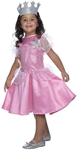 Glinda Halloween Costume Wicked (Rubie's Costume Wizard of Oz Glinda Sequin Dress Child Costume, Medium)