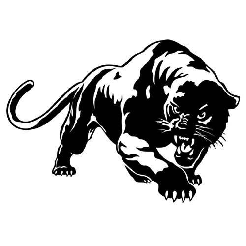 - Naladoo Cool Decal Stickers Fiery Wild Panther Hunting Car Body Decor,Auto Window Sticker Decal Motorcycle (Black)