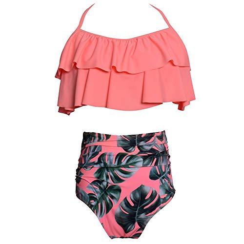 8b54d1cc39d7 Darkey Wang Women Ruffled Flounce Crop Bikini Top High Waisted Bottom Two  Piece Swimsuits