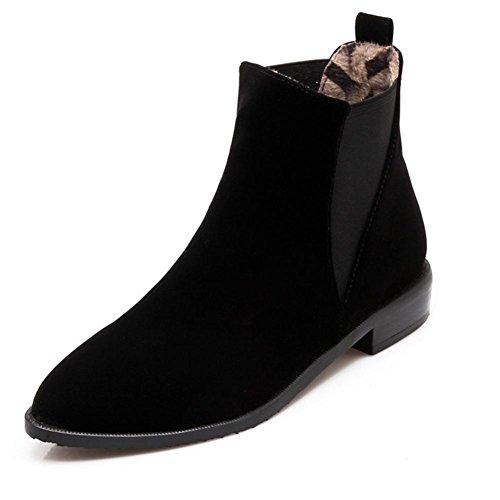 HQuattro nero skid in stagioni tacco punta black Giallo usura 37 low colorato donne scrub anti H gomma stivali d6Awxd