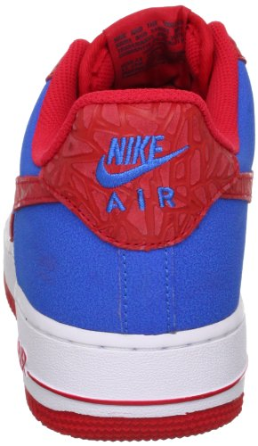 Nike Mens Air Force 1 Scarpe Da Basket Foto Blu / Iper Rosso