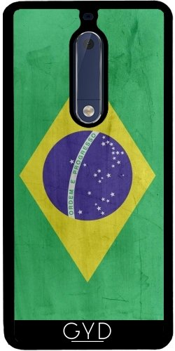 Funda de silicona para Nokia 5 - Bandera Brasil by wamdesign