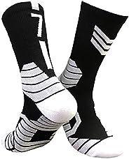 Unisex Athletic Socks Basketball Crew Socks-Cotton Moisture Wicking Socks For Football & Running 1-