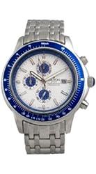 Croton Men's CC311093SSBL Silver-Tone Blue Bezel Watch