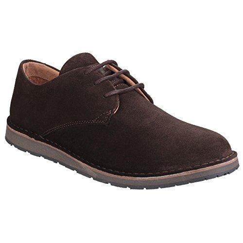 Hush Puppies - Zapatos lisos con cordones modelo Irvine para hombre Marrón chocolate