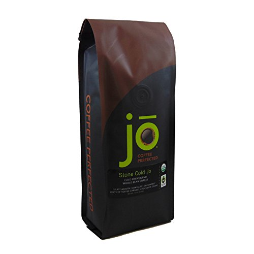 STONE COLD JO: 12 oz, Cold Brew Coffee Blend, Dark Roast, Whole Bean Organic Coffee, Silky, Smooth, Low Acidity, Great Brewed Hot Too, USDA Certified Organic, Fair Trade Certified, NON-GMO