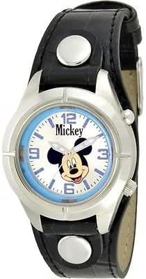 Disney's Luminous Mickey Mouse Watch with Light in Black Military Band Mck869-l61