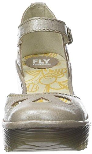 Femme Argent Bout London Escarpins Silver Fermé Fly Yuna qZwX7