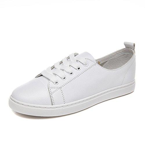 Zapatos planos de las mujeres/Versión coreana de cordón de zapatos/zapatos casuales A