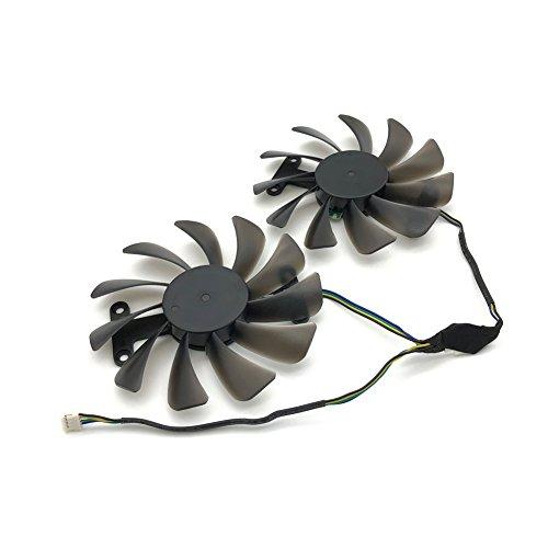 2pcs/lot GF10012H12SPA 0.5A video cards cooler GTX1080 GPU fan For zotac GeForce GTX 1080 AMP Graphics Card GPU cooling by Z.N.Z (Image #3)
