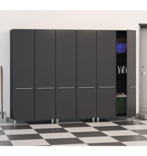 Ulti-MATE Garage Storage Package, Graphite Grey/Black (Ultimate Garage Garage Storage)