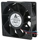 delta fans molex - Delta Electronics PFB1212UHE-F00 120x120x38mm Cooling Fan, 252.85 CFM, 5500 RPM, 66.5 dBA, 12VDC, 4 Amp., 48W, 4-pin molex + 3-pin TAC connector