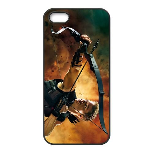 Hawkeye The Avengers coque iPhone 5 5S cellulaire cas coque de téléphone cas téléphone cellulaire noir couvercle EOKXLLNCD24305