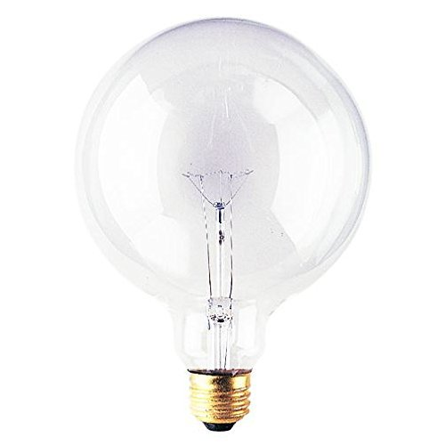 Bulbrite 60G40CL 60-Watt Incandescent G40 Globe, Medium Base, Clear [6 Pack]