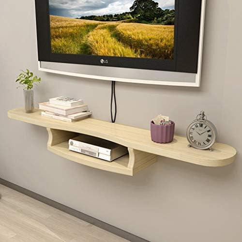 壁掛けテレビキャビネットフローティング棚ウォールシェルフマルチメディアWiFiルータースカイボックスセットトップボックスケーブルボックス収納棚120センチ (色 : B)