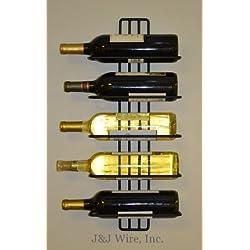 J&J Wire 5-Bottle Wall Wine Rack