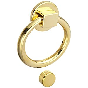 Baldwin 0195031 Ring Door Knocker, Unlacquered Bright Brass
