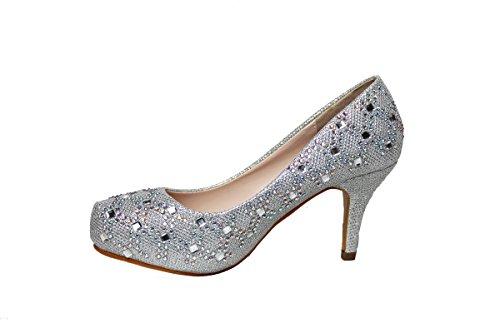 63f0d4825ec2 Greens Mode Féminine Talons Bas (maria01) Cendrillon Princesse Sparkle  Cristal Gem Strass Paillettes Formelles. chaussures ...