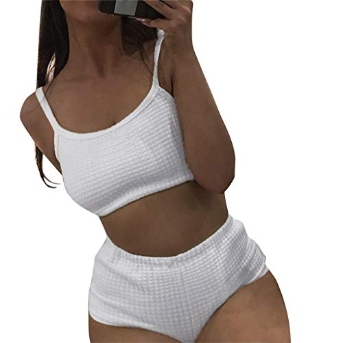 - Women Two Piece Outfits Set Ribbed Scoop Straps Crop Tank Top with High Waist Tummy Full Coverage Shorts Pants Summer Casual Sport Suits Gym Jumpsuit Tracksuit Set