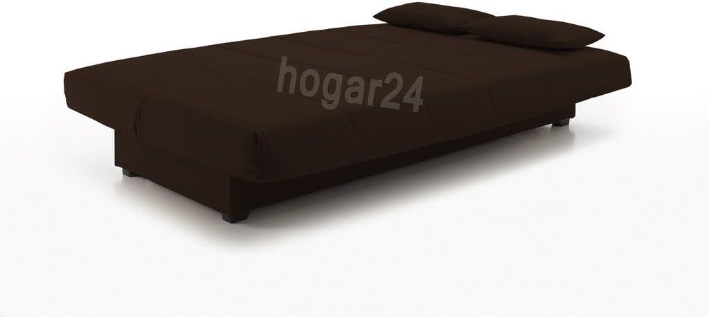 Sofa Cama Clic CLAC con ARCÓN DE ALMACENAJE Chocolate: Amazon ...