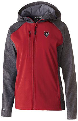 Ouray Sportswear NCAA New Mexico Lobos Women's Raider Soft Shell Jacket, 2X, Carbon Print/Scarlet