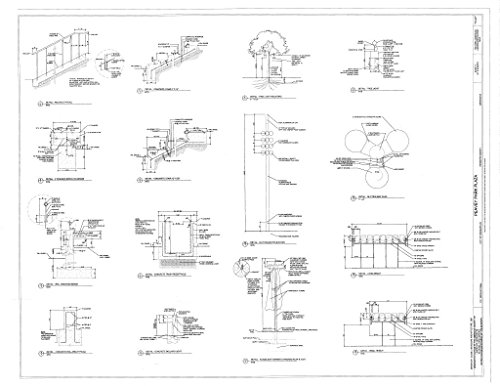 Historic Pictoric Blueprint Diagram Details - Peavey Park Plaza, 1111 Nicolet Mall, Minneapolis, Hennepin County, MN 44in x ()