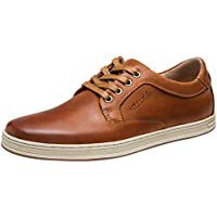 JOUSEN Men's Sneakers Leather Classic Casual Oxford Shoes
