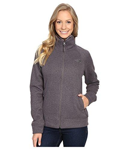 (The North Face Crescent Raschel Full Zip Jacket Women's Rabbit Grey Heather Medium)