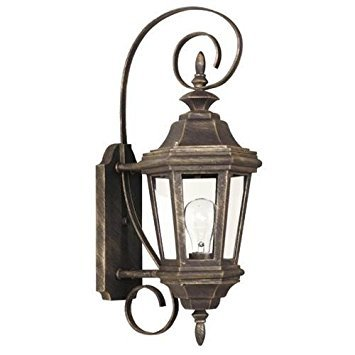 Kenroy Home 16312AP Estate 1-Light Small Wall Lantern, Antique Patina