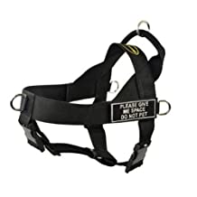 Dean & Tyler Universal No Pull Dog Harness, Please Give Me Space Do Not Pet, X-Large, Fits Girth Size: 36-Inch to 47-Inch, Black