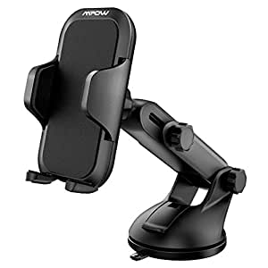 Mpow Car Phone Mount, Universal Long Arm Car Holder, Dashboard Windshield Mobile Phone Cradle for iPhone X/8/7/7Plus/6s/6Plus/5S, Galaxy S5/S6/S7/S8, Google, Huawei and More