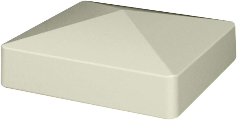 PYRAMID STYLE White Vinyl Post Caps VINYL FENCE POST CAP 5 Inch