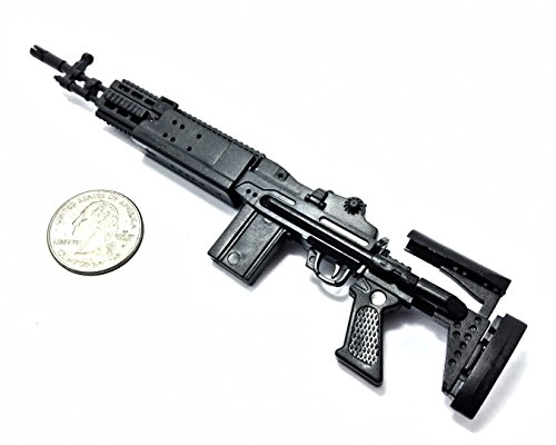 1/6 Scale M14 EBR Enhanced Battle Rifle US Army Gun Model GI JOE Fit For 12