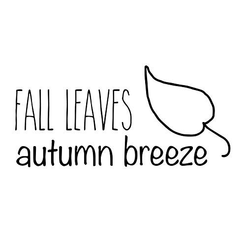 Creative Concepts Ideas Fall Leaves Autumn Breeze CCI Decal Vinyl Sticker|Cars Trucks Vans Walls Laptop|Black|5.5 x 3.0 in|CCI2556 (3 Men And A Baby Ghost In Window)