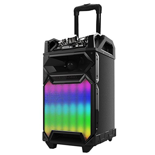 Audster AUD-L180 Rechargeable Bluetooth Wireless Portable Speaker System 1400W Speaker with LED Lights for iphone 7 iphone 6S iphone 6 iphone 5 5S 5C 4S 4 Galaxy 7.0 Galaxy A9 Pro Galaxy S7 edge On5