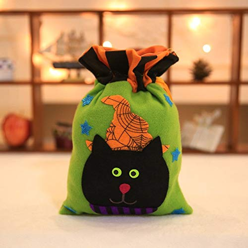 (Sala-Tecco - 1PC Halloween Gift Bags Candy Bags Trick or Treat Halloween Gift Holders Cute Holder Bags for Halloween Party Supplies Kids)