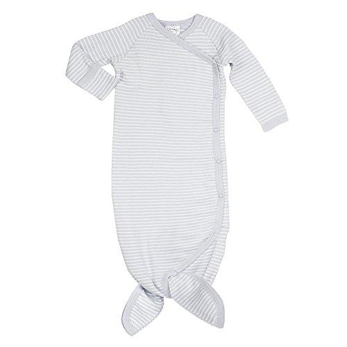 Mermaid Baby blanket Organic Cotton Sleepgown Sleep Gown Boy Tie fins Easy Diaper Kimono Beautiful (3-6 Months, (Organic Cotton Gown)