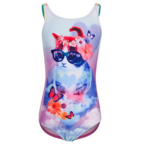 DAYU Little Princess Swimwear Flower Butterfly Printed Swimsuit for Girls