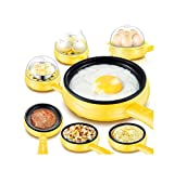 FAT BIG CAT Multifunction Mini Electric Egg Omelette Cooker Eggs Boiler Food Steamer