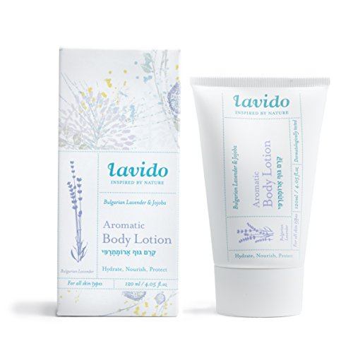 Aromatic Body Care Water - Lavido Natural Bulgarian Lavender and Jojoba Aromatic Body Lotion 4.05 fl. oz/120ml