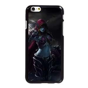 Sylvanas Windrunner funda iPhone 6 6S 4.7 pufunda LGadas del teléfono celular funda S4D2IRQBJT negro