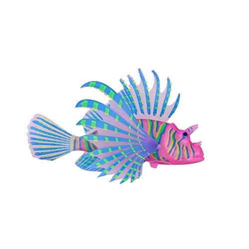 - ZZH Aquarium Glowing Floating Artificial Silicone Fish Ornament - Perfect Fish Tank Decoration - Vivid Simulation Creature Aquarium Landscape